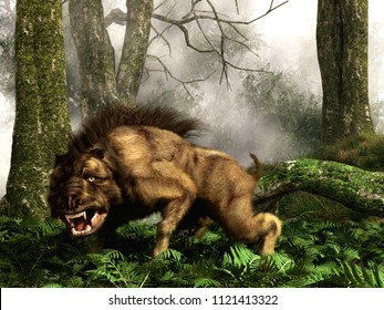 This is a Daeodon, also known as Dinohyus, an ancient relative of the wild boar that lived in North America during the Eocene and went extinct about 18 million years ago. 3D Rendering