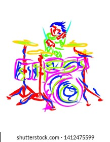 This is drums illustration makes a perfect illustration when you put this on t- shirt or like design for shopify, amazon and anywhere.