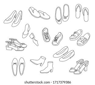 this is icon set of shoes.