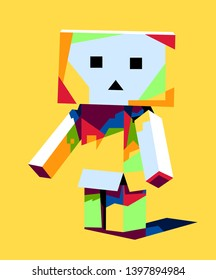 This is an illustration of Danbo with very beautiful colors and cute face