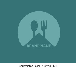 This logo is very cock for restaurants, bars, cafeterias because it depicts a pair of spoons and forks