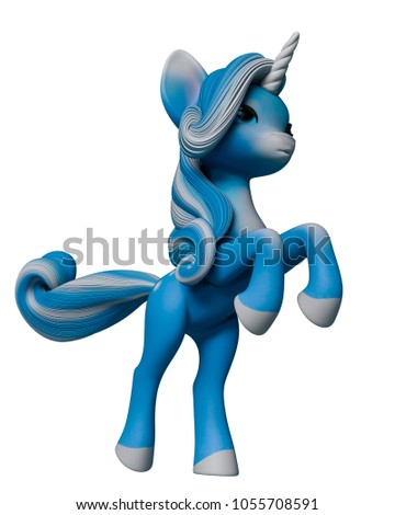 0762f4af913 This Lovely Unicorn Cartoon 3 D Illustration Stock Illustration ...
