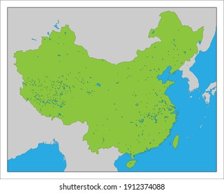 This is a map of China.