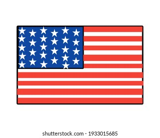 This is a picture of the flag of the United States of America