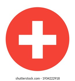 this is a picture of the Round Swiss flag