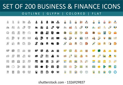 This is a Set of Business & Finance Icons