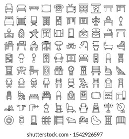 this is a set of furniture icons