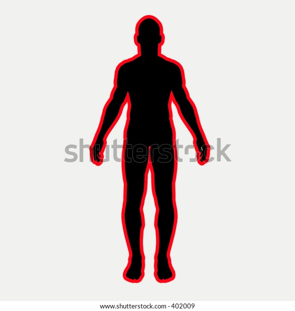 This is a simple male outline.