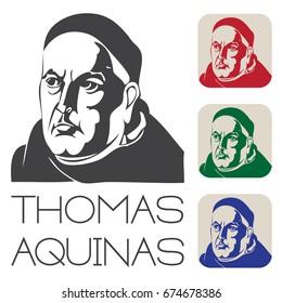 Thomas Aquinas Raster Illustration