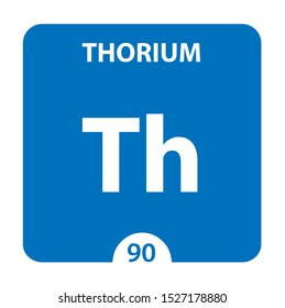 Thorium Chemical 90 element of periodic table. Molecule And Communication Background. Thorium Chemical Th, laboratory and science background. Essential chemical minerals and micro elements