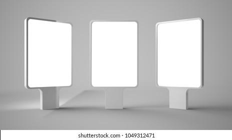 three billboards 3d rendering