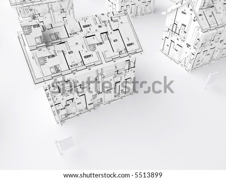 Simple architectural drawings Blueprint Three Dimensional Render Of Simple House Wrapped In Architectural Drawings Gayo Maxx Three Dimensional Render Simple House Wrapped Stock Illustration