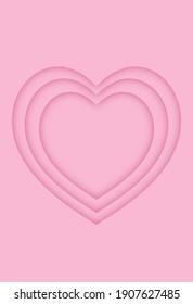 Three hollow heart patterns overlap