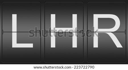 three letter airport code london heathrow stock illustration