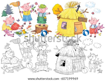 Royalty Free Stock Illustration Of Three Little Pigs Fairy Tale