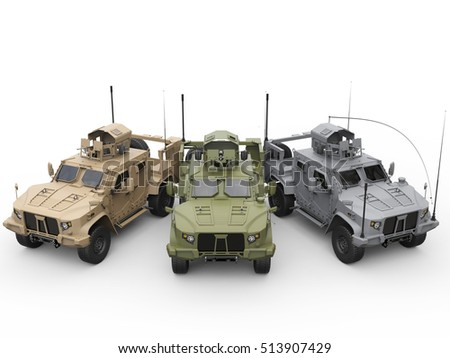 Royalty Free Stock Illustration of Three Military All