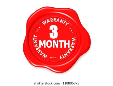 Three month warranty seal