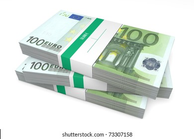 three packet of 200 Euro notes with bank wrapper - 10.000 Euros each