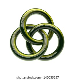 Three rings intertwined is a sign of the Trinity.