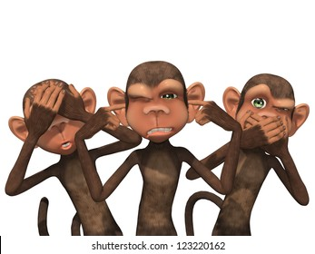 Three Wise Monkeys - See No Evil, Hear No Evil, Speak No Evil