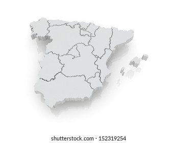 3d Map Of Spain.Spain Map 3d Images Stock Photos Vectors Shutterstock