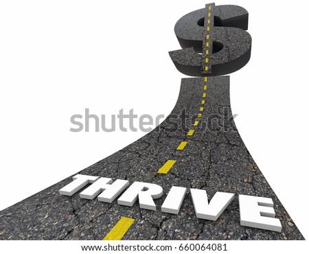 Thrive Make More Money Earn Income Stock Illustration 660064081