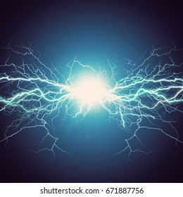 Thunder bolt, industrial and science abstract backgrounds