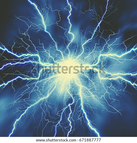 thunder bolt industrial science abstract backgroundsのイラスト素材