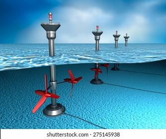 Tidal energy: generator in the ocean