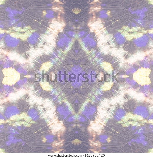 Tie Batic Patterns Multicolored Canvas Seamless Stock Illustration