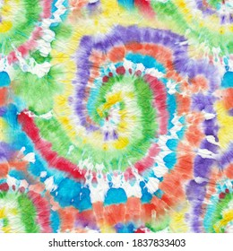 Tie Dye Background. Ethnic Pattern. Psychedelic Geo Borders. Multicolor Tonal Prints. Graphic Background. Multicolor Tie Dye Batik. Watercolor Texture. Bleach Tie Dye.