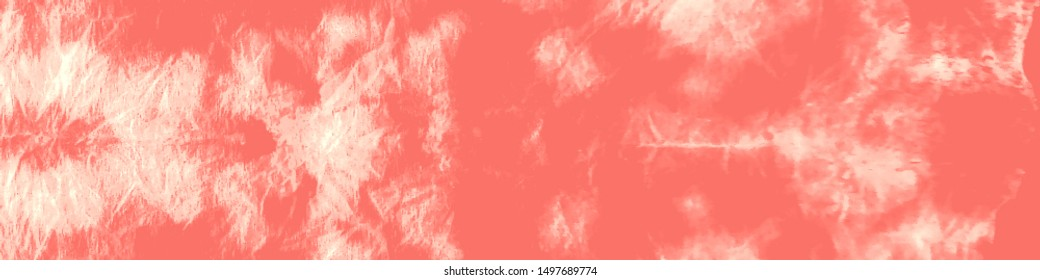 Tie And Dye. Tie Dye Background. Washed Out Texture. Boho Style Geometric Backdrop. Tribal Abstract Dirty Art. Traditional Boho Ornament. Coral, Red Tie And Dye.