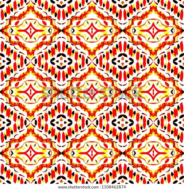 8204a814 Tie dye colorful shibori print. Seamless hand drawn boho pattern. Ink  textured japanese background
