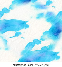 Tie Dye Drawing. Vibrant Aquarelle Brush Painting. Tie Dye Drawing Artwork. Seamless Watercolor Dye Design. Beautiful Hand Drawn Fabric. Trendy Acrylic Dirty Style. Artistic Background.