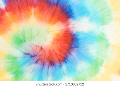 Tie Dye Pattern. Aquarelle Wallpaper. Tie Dye Spiral Pattern. Bright Summer Colors Illustration. Grunge Abstract Background. Trendy Fashion Tie Dye. Magic Watercolor Dirty Painting.