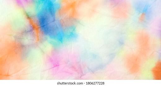 Tie Dye Pattern. Artistic Wallpaper. Swirled Aquarelle Pattern. Bright Colors Dyed Effect. Grunge Hand Drawn Print. Vibrant Acrylic Kaleidoscope. Trendy Fantasy Tie Dye.