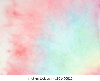 Tie Dye Pattern. Grunge Hippie Dirty Painting. Circle Tie Dye Pattern. Bright Summer Colors Fabric. Magic Hand Drawn Texture. Beautiful Fashion Dirty Art. Watercolor Print.