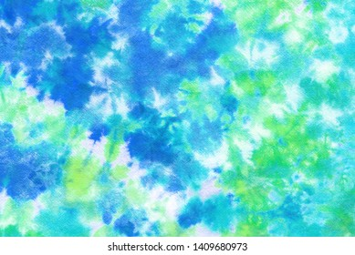 tie dye pattern hand dye on cotton fabric abstract background.