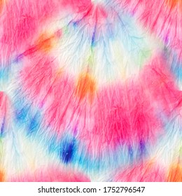 Tie Dye Pattern. Organic Fashion Tie Dye. Modern Tie Dye Pattern. Bright Seamless Design. Tie and Dye. Trendy Acrylic Fabric. Rainbow Artistic Dirty Style. Aquarelle Batik.