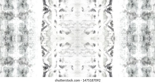 Tie Dye Seamless Background. White Smudges. Wash Drawing Asian Rug. Decoraton Wardrobe. Modern Dyed Decoraton Embroidery. Art Dyed Dark Charcoal Blots. Dashiki.