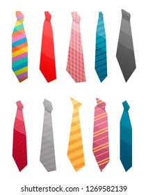 Tie suit icon set. Isometric set of tie suit icons for web design isolated on white background