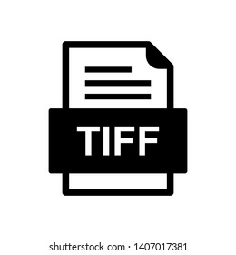 TIFF File Document Icon In Trendy Style Isolated Background