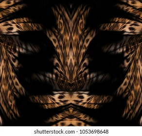 tiger and leopard skin background