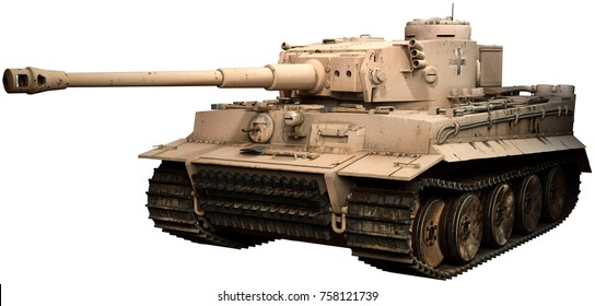 Tiger tank 3D illustration