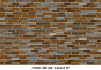 tile bricks wallpaper 3d illustration 40x29cm 300dpi