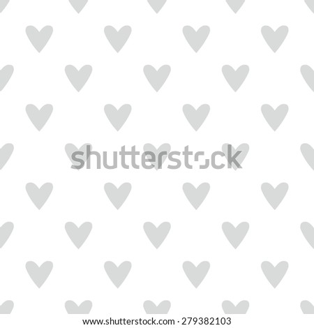 tile cute pattern grey hearts on stock illustration 279382103