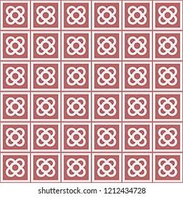 Tile el Panot de Flor Rosa de Barcelona Red Pattern