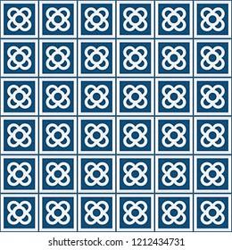Tile el Panot de Flor Rosa de Barcelona Blue Pattern
