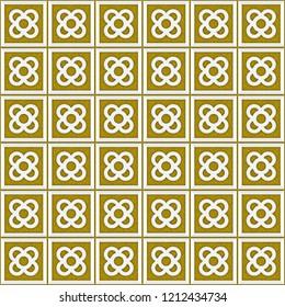 Tile el Panot de Flor Rosa de Barcelona Yellow Pattern