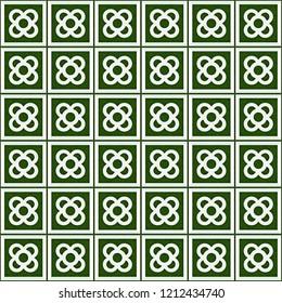 Tile el Panot de Flor Rosa de Barcelona Green Pattern